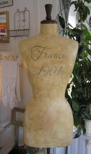 Dress form with french text