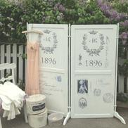 Folding screen shabby chic